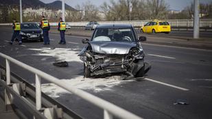 Hármas baleset az Árpád hídon