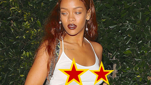 Rihanna ismét megmutatta átszúrt bimbóját