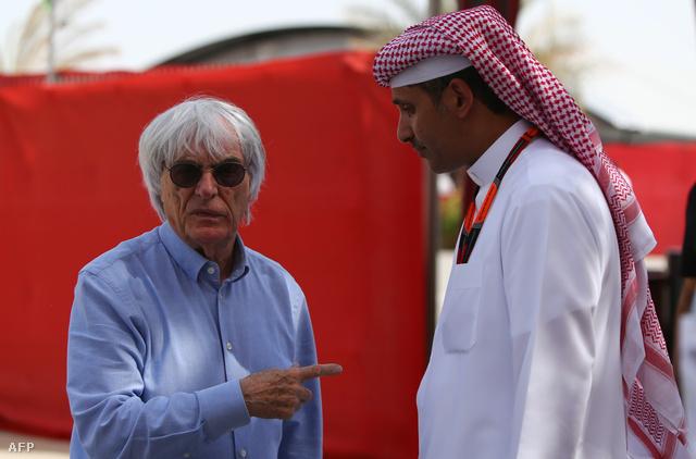 Ecclestone már Bahreinben van, a hétvégi futam helyszínén