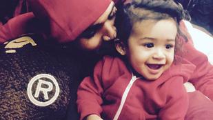 Eddig a létezését is tagadta, most mégis megmutatta lányát Chris Brown