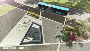 A Határ úton új buszvégállomás lesz, flamingókkal!
