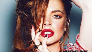 Itt van Lindsay Lohan combközépig érő lakkcsizmában