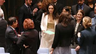 Angeline Jolie a mellbimbóit is bemutatta az ENSZ-ben