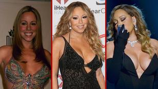 Mariah Carey az éneklés mellett a mellmutogatáshoz is nagyon ért