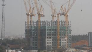19 nap alatt épült fel egy 57 emeletes kínai felhőkarcoló