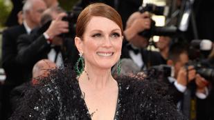 Julianne Moore óriásdekoltázst vitt Cannes-ba