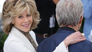 Jane Fonda megmarkolta Harvey Keitel fenekét