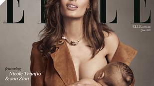 Címlapon szoptat a szupermodell Nicole Trunfio