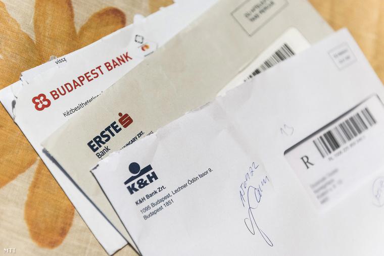Bankoktól kapott elszámolási és forintosítási tájékoztatók.
