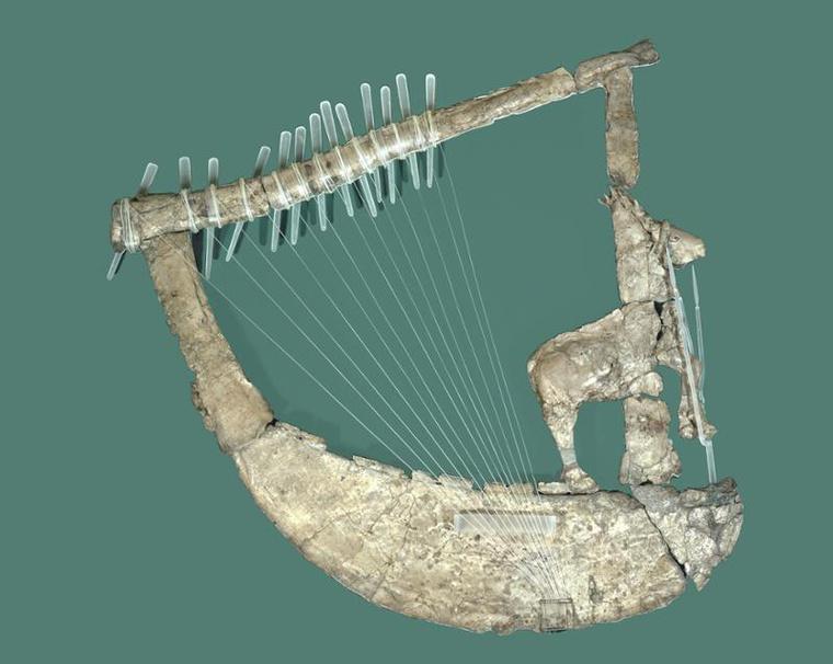 A Szarvasos líra a Penn Museumban (object 30-12-253)
