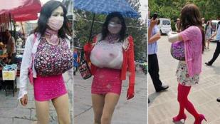 Gigászi műmellei buktatták le a nőnek öltözött kukkolót