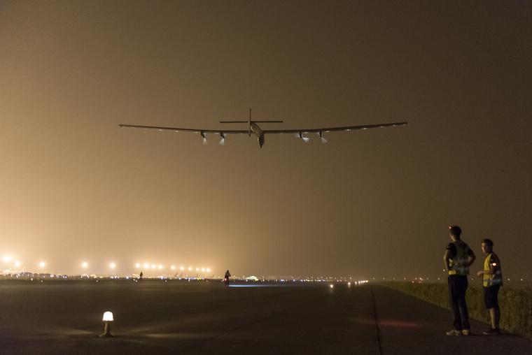 2015 05 31 Solar Impulse 2 RTW 7th Flight Nanjing to Hawaii take