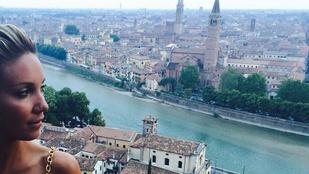 Kit érdekel Verona, ha ott van Kapócs Zsóka fehér melle?