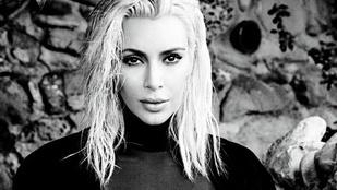 A terhes Kim Kardashian a brazil Vogue-ban mutogatja mellbimbóját