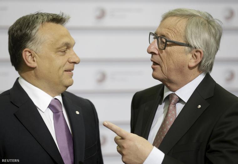 Orbán Viktor és Jean-Claude Juncker a rigai csúcson
