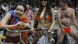 A meztelen bringázást egyvalaki túlzottan is élvezte