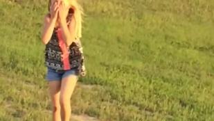 A hülye kislány felpincselt egy ludat