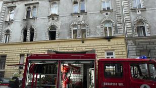Kiégett egy lakás Budapest VII. kerületében