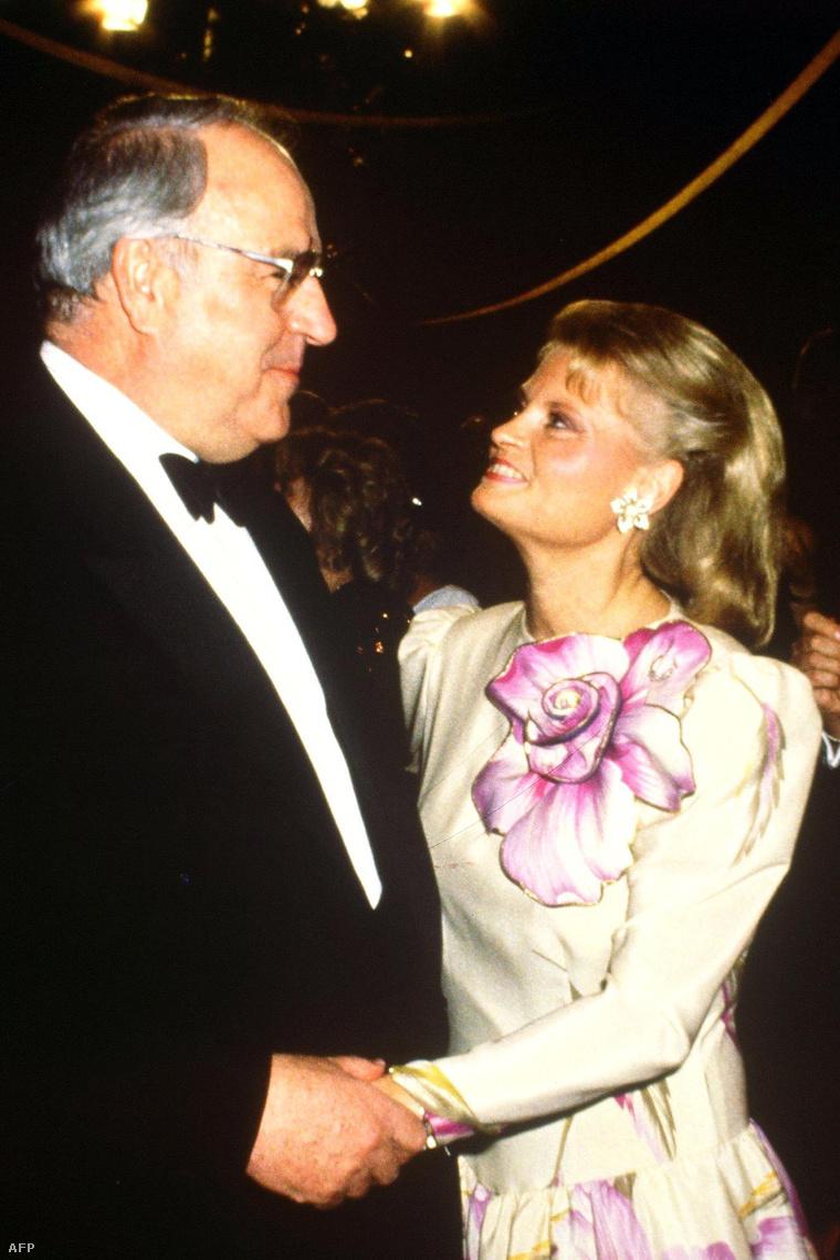 Feleségével, Hanneloréval 1988-ban