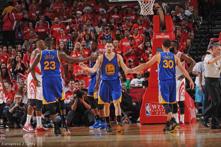Green, Thompson és Curry a Rocketsot is elintézte