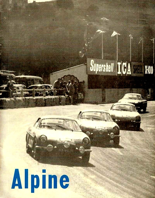 Az offenzíva. Három A110-es sorban a versenypályán - ez a szitu kétszer is előfordult Mote Carlóban (1971, 1973), igaz, ott nem így futnak be
