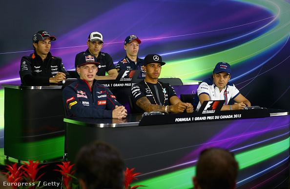 Verstappen és Massa az első sor két szélén