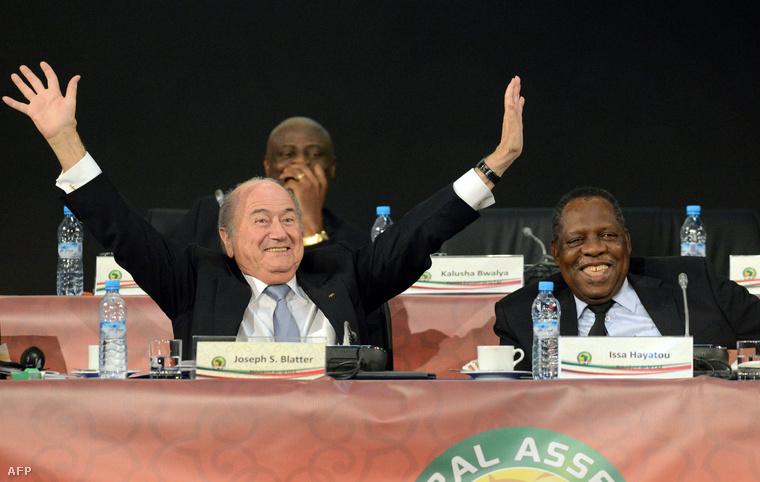 Blatter és Bhamjee egy 2013-as rendezvényen