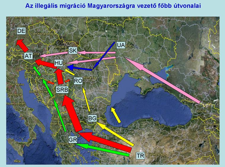 illegális migráció útvonal mo