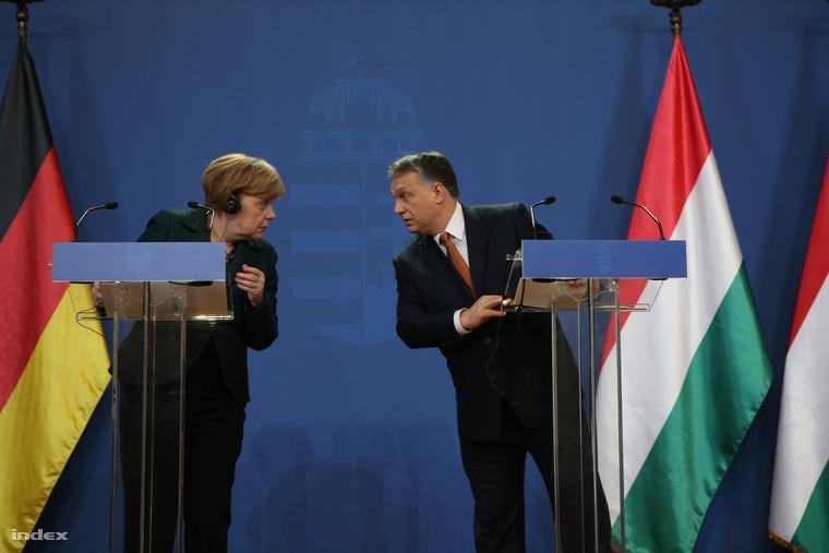 Sajtótájékoztató Angel Merkel budapesti látogatásán (2015. február)