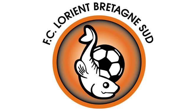 A Lorient logója 2002 és 2010 között, ez volt a legcukibb, a mostanin már nem annyira aranyos a hal.