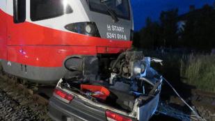 Ennyi maradt a vonattal ütköző Suzukiból