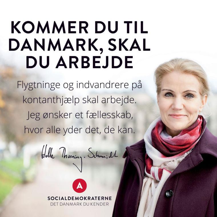 Ha Dániába jössz, dolgoznod kell! -hirdeti a plakát
