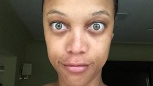 Egy kép azoknak, akik mindig is szerettek volna Tyra Banks mellett ébredni