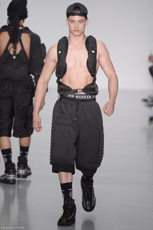 100%-ig fekete divat a londoni férfidivathéten