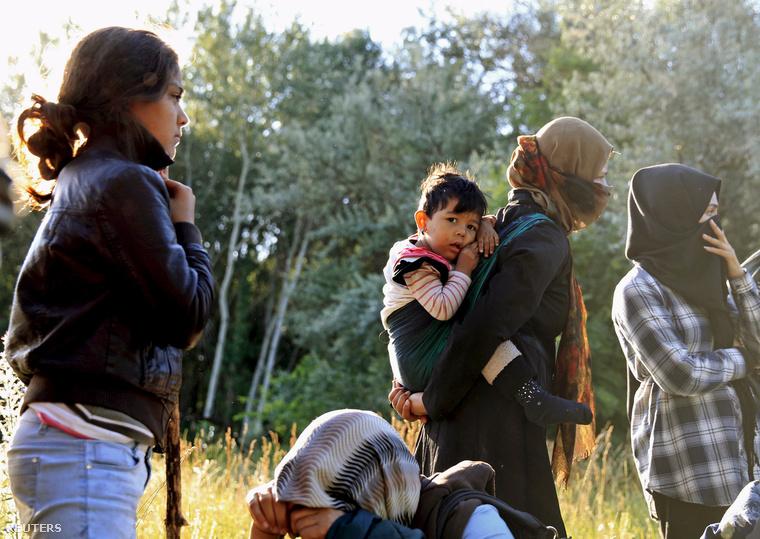 Afgán menekültek Ásotthalomnál