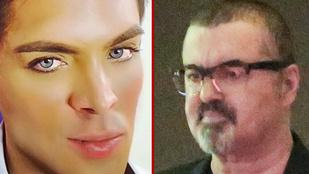 A hét képei: A csőrikévé hízott George Michael és az élő Barbiefiú