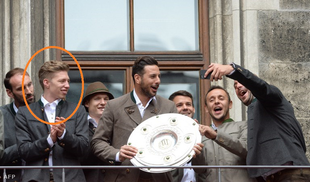 Weiser itt még a bayernesekkel ünnepli a bajnokságot