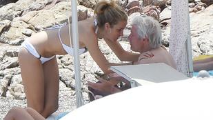 Richard Gere a strandon tapizza 33 évvel fiatalabb szeretőjét