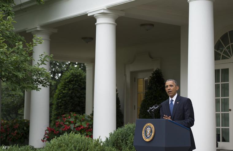 """""""Amerika számára ez győzelem, mert ha minden amerikai egyenlő bánásmódban részesül, akkor szabadabbak vagyunk"""" - Barack Obama amerikai elnök a Fehér Ház Rózsakertjében tartott beszédében üdvözölte a Legfelsőbb Bíróság döntését."""