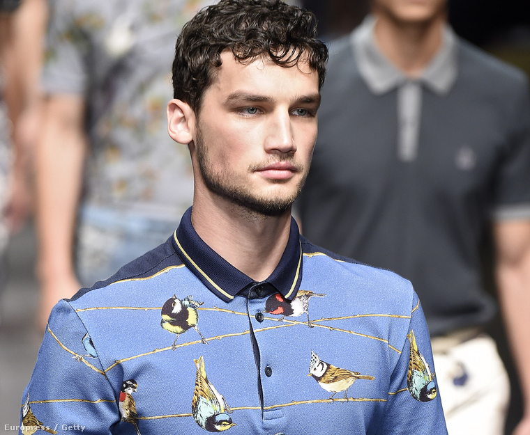 Patinszki Misa a Dolce & Gabbana divatbemutatóján