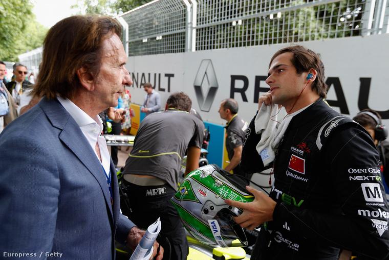 Emerson Fittipaldi a későbbi világbajnok ifj. Nelson Piquet-vel