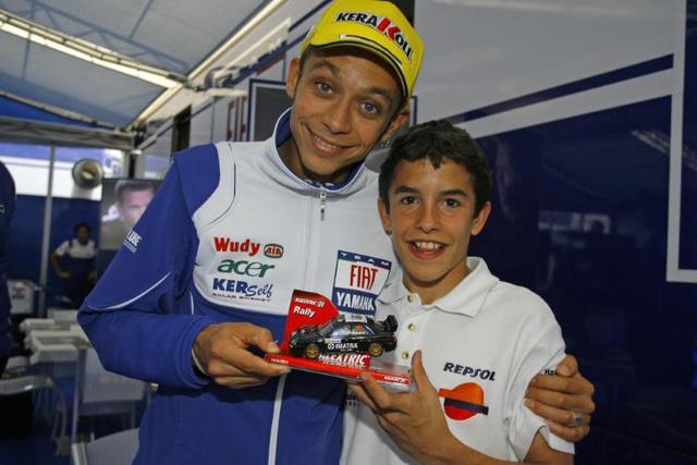Rossi és Márquez 2008-ban
