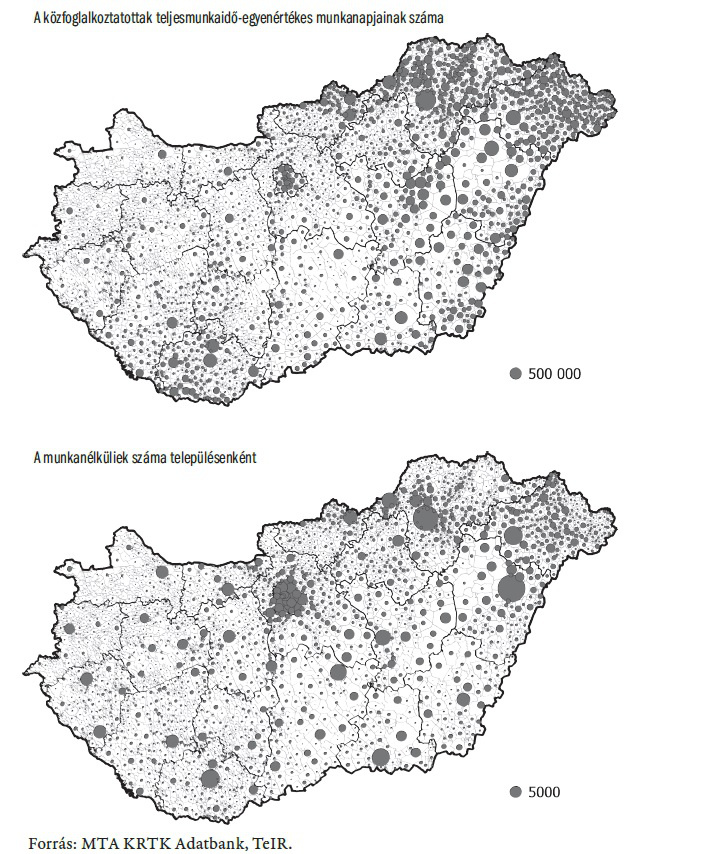 közmunka térkép