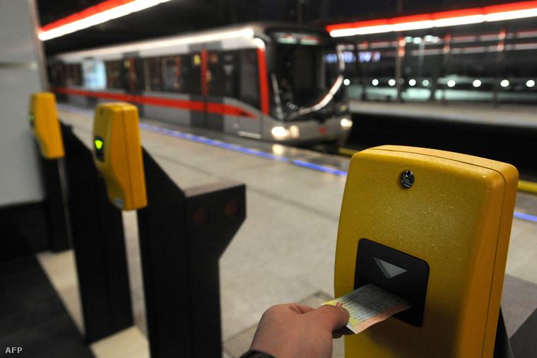 A Strizkov állomás a Prágai metró C vonalán