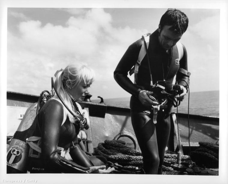 Ron és Valerie Taylor munka közben