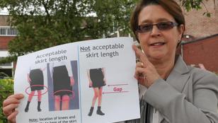 A tanároknak túl izgató a szoknyás lányok látványa