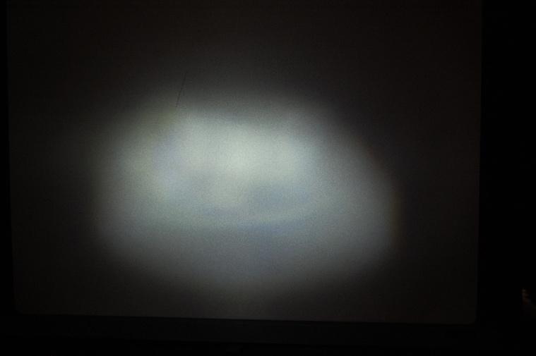 Btwin elemes vetített képe: kevés szórt fény, a fényereje kisebb, mint ledes társaié.