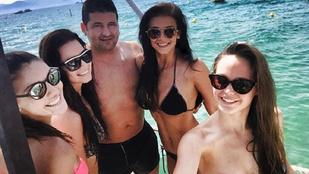 Túl sok: Sarka Kata és Kulcsár Edina egyszerre bikiniben