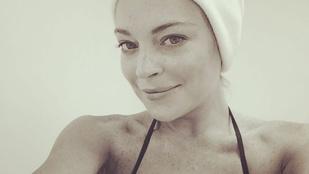 Lindsay Lohan nem érzi az arcát, de azért nagyon boldog