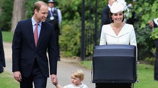 Sarolta hercegnő keresztelőjén György herceg volt a legaranyosabb